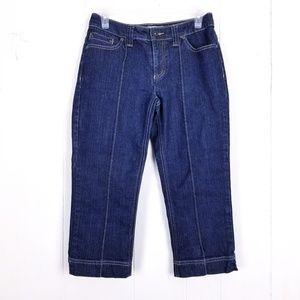 Chicos Platinum Denim Crop Jeans Size 00 XS/0-2
